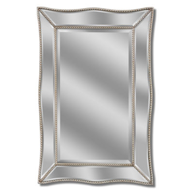 Metro Beaded Scalloped Wall Mirror