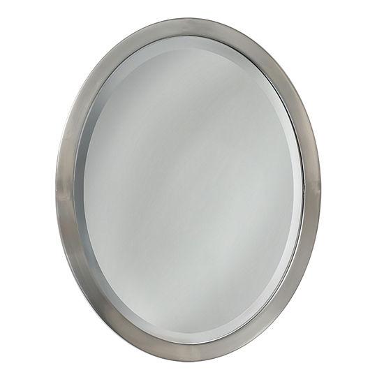 Framed Oval Wall Mirror