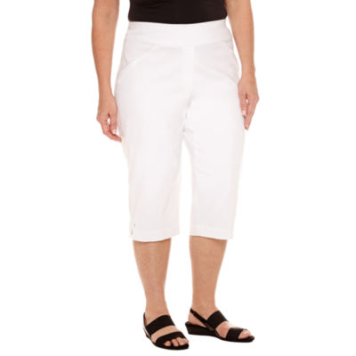 """Alfred Dunner Seas The Day Cropped Pants-Plus (19"""")"""