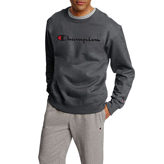 Champion Mens Crew Neck Long Sleeve T-Shirt