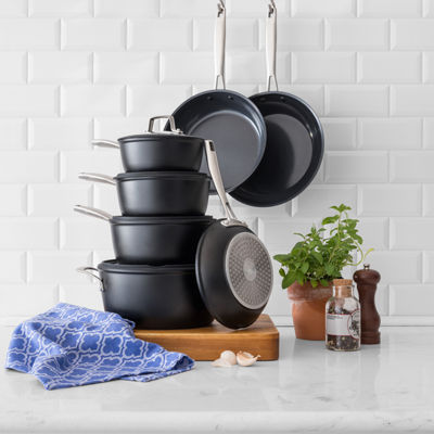 Cooks Signature Black Matte 11-pc. Cookware Set