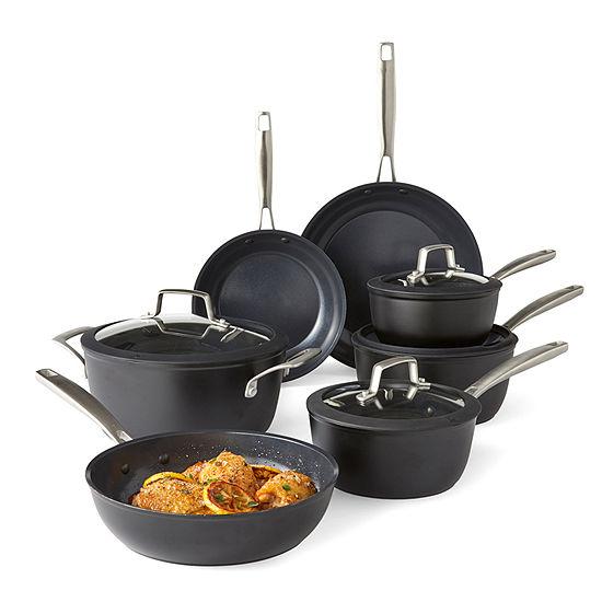 Cooks Signature Black Matte 11-pc. Cookware Set