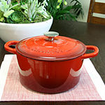 Crock Pot Artisan 5 Quart Round Enameled Cast Iron Dutch Oven