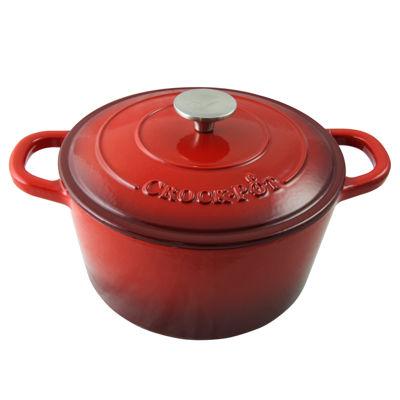 Crock Pot Artisan 5 Quart Round Enameled Cast Iron Dutch Oven