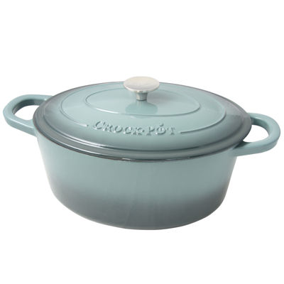 Crock Pot Artisan 7 Quart Enameled Cast Iron Dutch Oven Oval