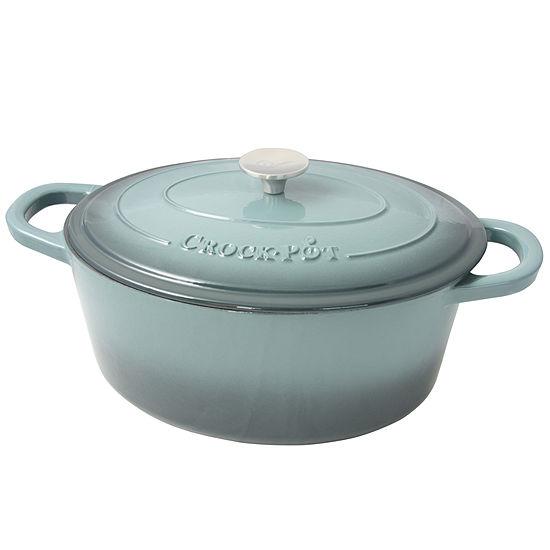 Crock Pot Artisan 7 Quart Enameled Cast Iron Dutch Oven Oval