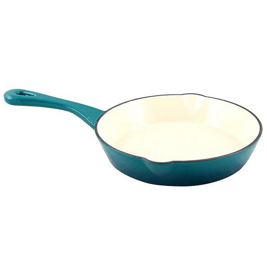 "Crock Pot Artisan Enameled 8"" Round Cast Iron Skillet"