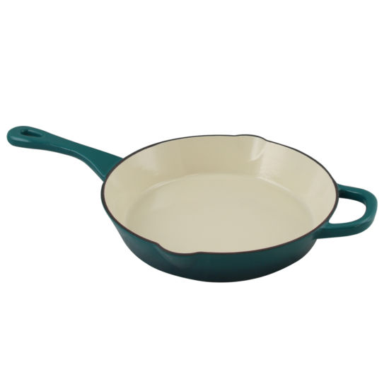 "Crock Pot Artisan Enameled 10"" Round Cast Iron Skillet"