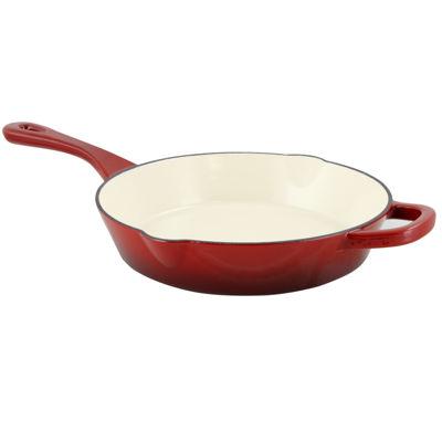 "Crock Pot Artisan Enameled 10"" Round Cast Iron Skillet"