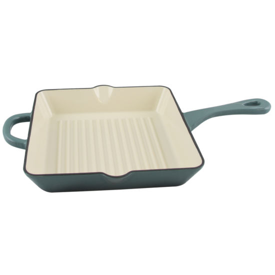 "Crock-Pot Artisan 10"" Square Enameled Cast Iron Grill Pan"