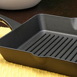 "Crock-Pot Artisan 10"" Square Preseasoned Enameled Cast Iron Grill Pan"