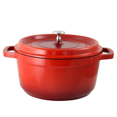 Crock Pot Edmound Cast Aluminum 5 Quart Gradient Dutch Oven with Lid