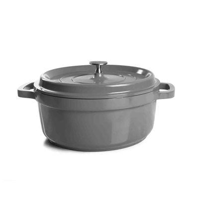 Crock Pot Edmound 5 Quart Nonstick Cast Aluminum Casserole with Lid