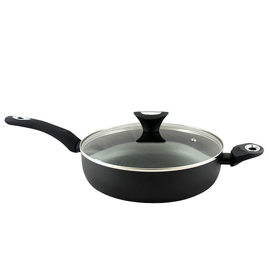 Oster Cuisine Allston 4.5 Quart Aluminum Saute Pan with Lid