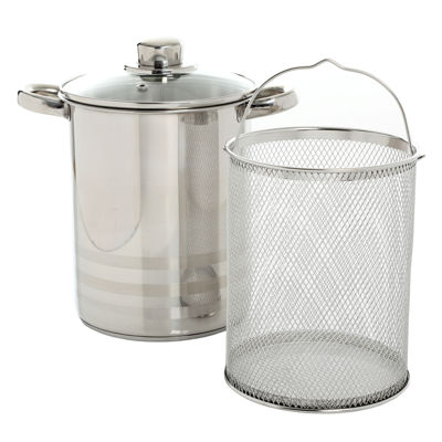 Oster Balfour Stainless Steel Asparagus Pot with Basket Insert