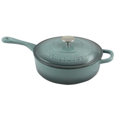 Crock Pot Artisan Enameled Cast Iron 3.5 Quart Deep Sauté Pan With Self Basting Lid