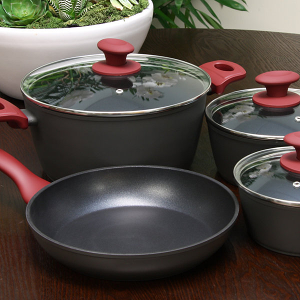 Gibson Home Marengo 7 piece Forged Aluminum Nonstick with Xylan Plus Interior Cookware Set