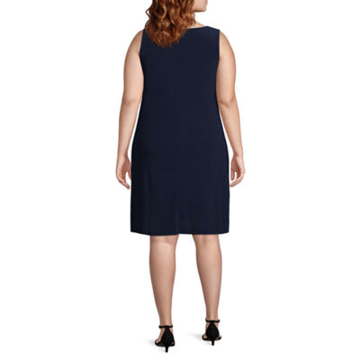 MSK Sleeveless Shift Dress - Plus