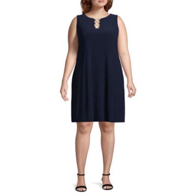 MSK Sleeveless Shift Dress - Plus