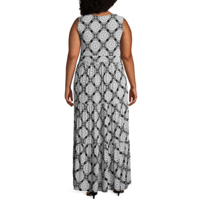 St. John's Bay Sleeveless Printed Maxi Dress - Plus