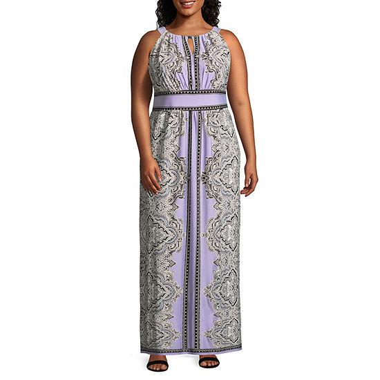 Studio 1 Sleeveless Paisley Maxi Dress - Plus