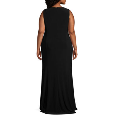 Blu Sage Sleeveless Embellished Evening Gown - Plus