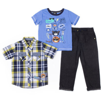Boys Rock Pattern Pant Set Baby Boys