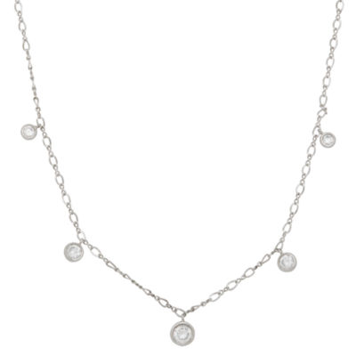 Diamonart Womens 18 Inch 1 1/5 CT. T.W. Cubic Zirconia Sterling Silver Link Necklace