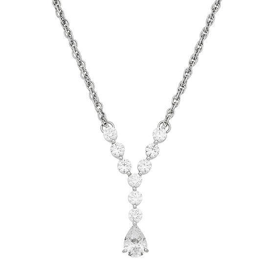Diamonart Womens 17 Inch 1 5/8 CT. T.W. Cubic Zirconia Sterling Silver Link Necklace