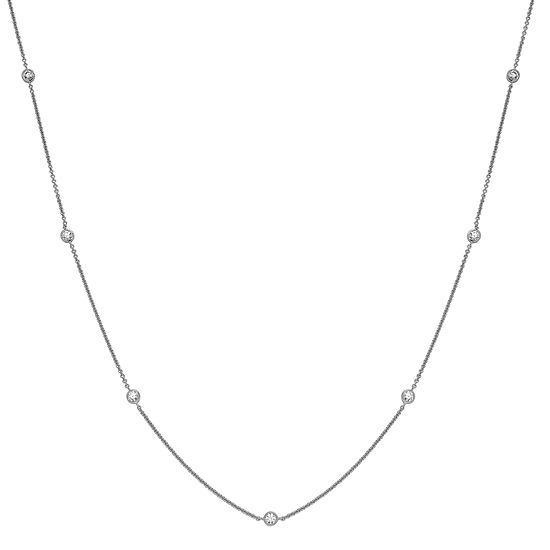 Diamonart Womens 36 Inch 3 1/4 CT. T.W. Cubic Zirconia Sterling Silver Link Necklace