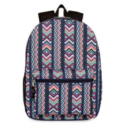 City Streets Extreme Value Rainbow Chevron Backpack