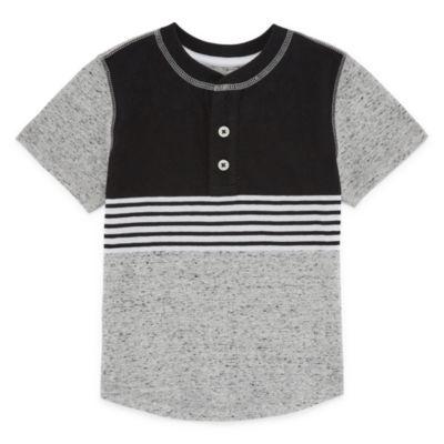 Okie Dokie Short Sleeve Round Neck T-Shirt-Toddler Boys