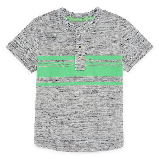 Okie Dokie Boys Short Sleeve Henley Shirt Toddler