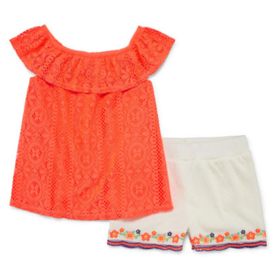 Okie Dokie 2-pc. Short Set Toddler Girls