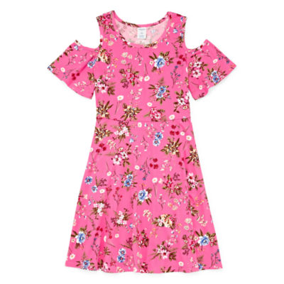 Arizona Sleeveless Floral A-Line Dress Girls