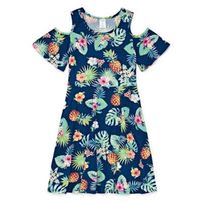 Arizona Short Sleeve A-Line Dress Girls