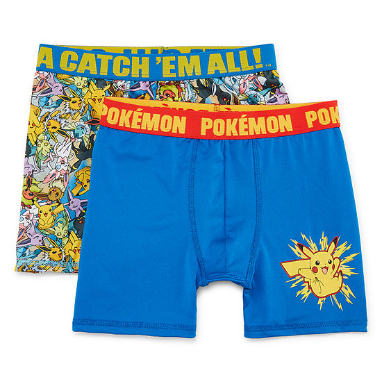 Boys Atletic Boxer Briefs 2pk Boys 2 Pair Pokemon Boxer Briefs Big Kid