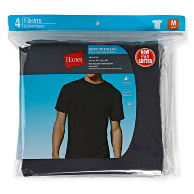 Hanes Comfortblend 4-pc. Short Sleeve Crew Neck T-Shirt