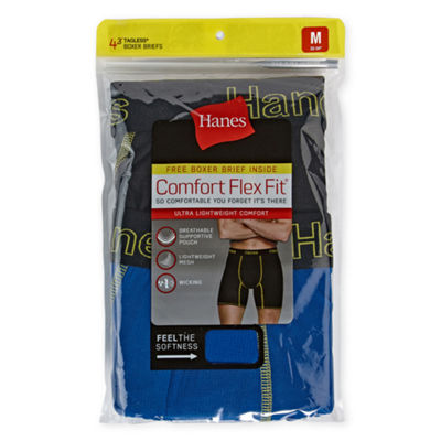 Hanes Comfort Flex Fit 3 + 1 Bonus Pair Boxer Briefs - Men's