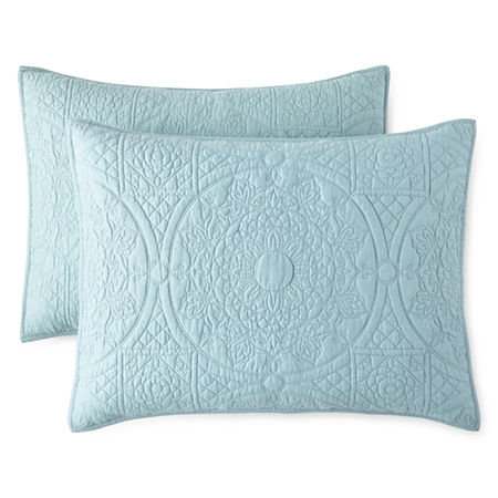 JCPenney Home Emma Pillow Sham, One Size , Blue