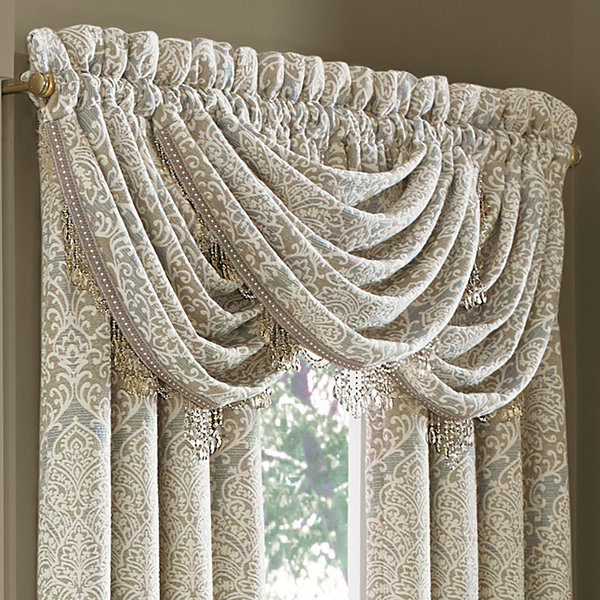 Queen Street Rainna Rod-Pocket Waterfall Valance
