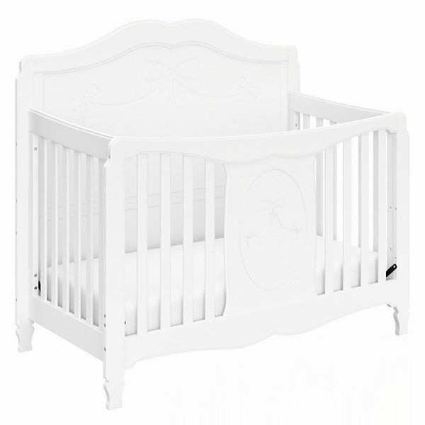 storkcraft princess 4 in 1 convertible crib white jcpenney