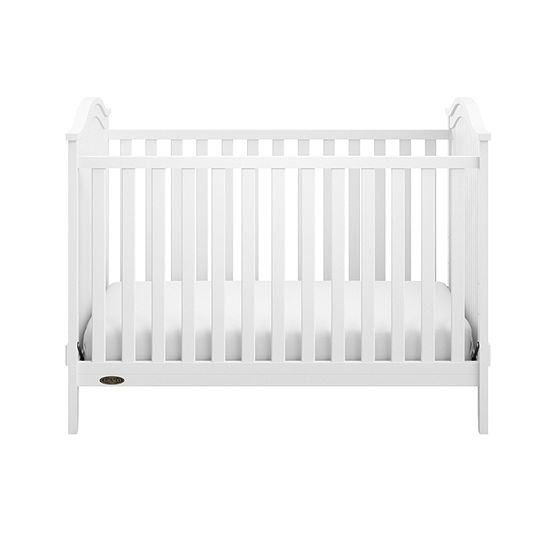 Graco Linden Upholstered 3-in-1 Convertible Crib - White/Sand