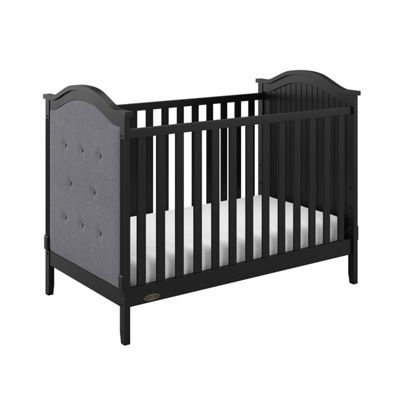 Graco Linden Upholstered 3-in-1 Convertible Crib - Black/Gray