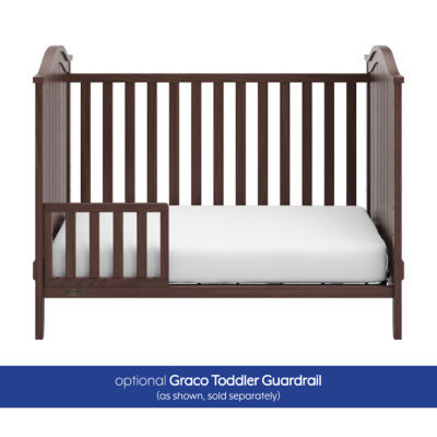 Graco Linden Upholstered 3-in-1 Convertible Crib - Walnut/Sand