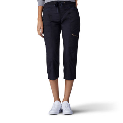 Lee Relaxed Pull On Adjustable Waist Capris-Petite