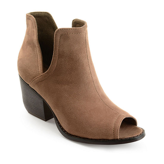 Journee Collection Womens Jordyn Stacked Heel Pull-on Booties