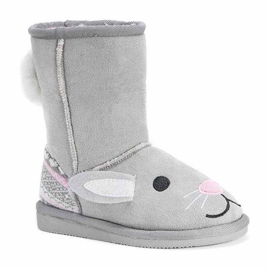 Muk Luks Toddler Unisex Trixie Bunny Winter Boots Flat Heel