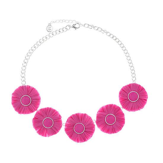 Liz Claiborne Womens Pink Collar Necklace
