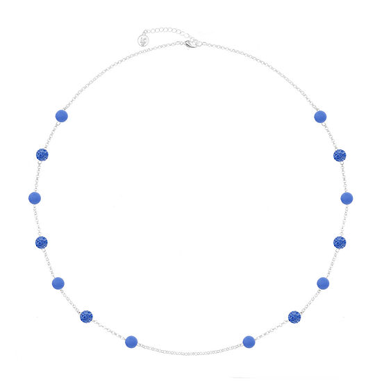 Liz Claiborne Blue 32 Inch Cable Round Strand Necklace